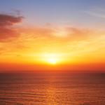 e sea, sunset shot